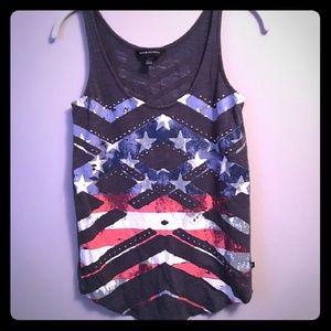 Rock & Republic American Flag Tank Top
